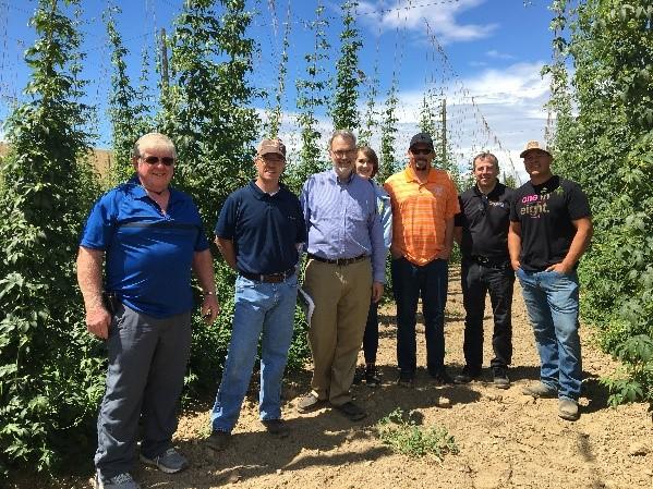 UTIA delegation on hops study tour to Washington State